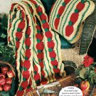 Y508 Crochet PATTERN ONLY Apple Mile-a-Minute Afghan and Pillow Patterns