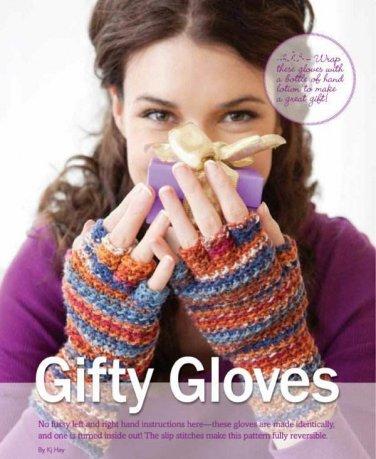 X744 Crochet PATTERN ONLY Fingertip Free Gloves Pattern