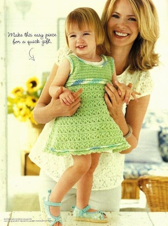 Y927 Crochet PATTERN ONLY Sweet & Swingy Baby Dress Pattern