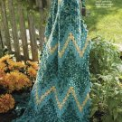 Y834 Crochet PATTERN ONLY Soft Shell-Ripple Throw Afghan Pattern