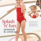 W146 Crochet PATTERN ONLY Little Girl Swimsuit & Cover Up Pattern Splash Fun!