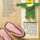 Y285 Crochet PATTERN ONLY Frog Tissue Doll & Flop-Flops Patterns