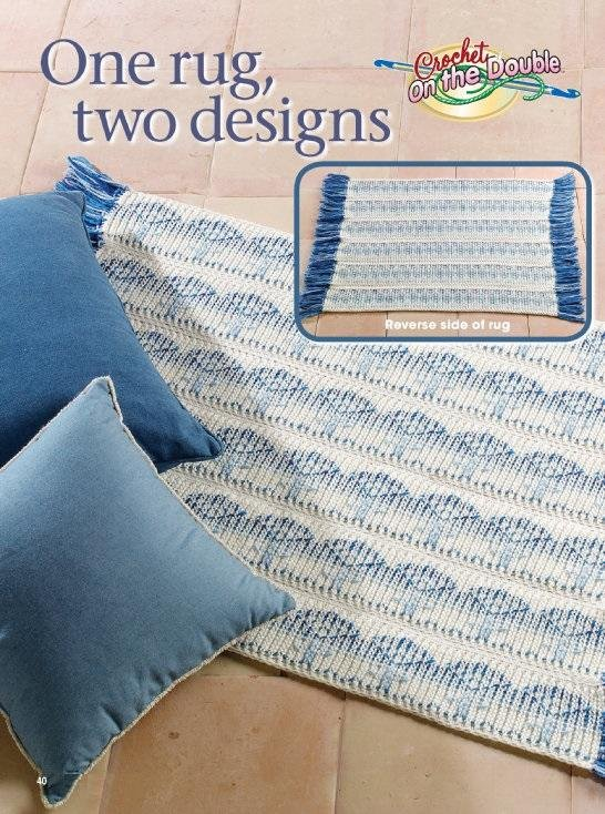 X511 Crochet PATTERN ONLY Throw Rug in 2 Designs Patterns