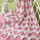 Y716 Crochet PATTERN ONLY Boucle Valentine Hearts Ripple Afghan Pattern