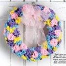 X248 Crochet PATTERN ONLY Spring Flower Wreath Pattern