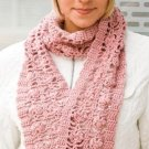 W117 Crochet PATTERN ONLY Romantic Lace Hat & Scarf Pattern