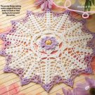 W271 Crochet PATTERN ONLY Signs of Spring Floral Doily Pattern