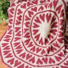W285 Crochet PATTERN ONLY Circular Tapestry Hearts Afghan Throw Pattern Round