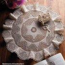W292 Crochet PATTERN ONLY Starflower Table Topper Scarf Pattern