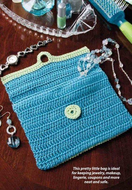 W298 Crochet PATTERN ONLY Bureau Jewelry Bag Pattern