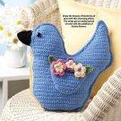 W358 Crochet PATTERN ONLY Sweet Bluebird Pillow Pattern