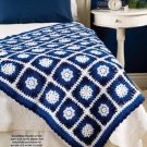 W323 Crochet PATTERN ONLY Let it Snow Granny Square Afghan Pattern
