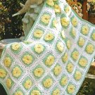 Y208 Crochet PATTERN ONLY Yellow Rose of Texas Afghan Throw Pattern