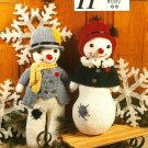 X914 Crochet PATTERN ONLY Mr. & Mrs. Frosty Snowman Toy Doll Pattern
