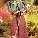 X520 Crochet PATTERN ONLY Fashion Doll Paris Walking Costume & Wrap Pattern