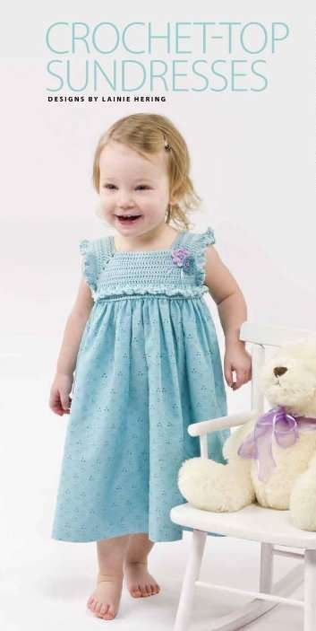 Y871 Crochet PATTERN ONLY Crocheted-Top of Sundress for Toddlers Pattern