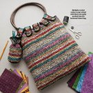 X112 Crochet PATTERN ONLY Scraps Bag Purse Tote Pattern