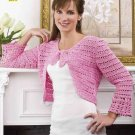 Y877 Crochet PATTERN ONLY Day-to-Evening Shrug Pattern Sized to 2X-Large