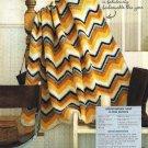 X343 Crochet PATTERN ONLY Zig-Zag Afghan Pattern