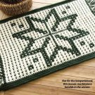 Y784 Crochet PATTERN ONLY Snowflake Mosaic Rug Pattern