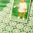 Y145 Crochet PATTERN ONLY Rosebud Baby Set Sweater Hat Blanket