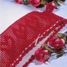 W353 Filet Crochet PATTERN ONLY Heart Pillowcase Edging Pattern