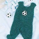 W034 Crochet PATTERN ONLY Footie Baby or Newborn Overalls Pattern - Beginners