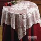 Y175 Filet Crochet PATTERN ONLY Tea Rose Tablecloth Tablecover Pattern