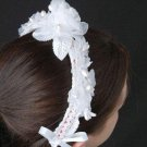 W031 Crochet PATTERN ONLY Bridal Headband Pattern Bride Wedding Headpiece