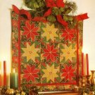 X102 Quilt PATTERN ONLY Gilded Poinsettia Wall Quilt Pattern