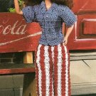 X147 Crochet PATTERN ONLY All-American Fashion Doll Outfit Set Barbie Pattern