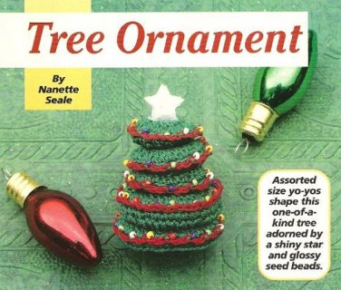Y162 Crochet PATTERN ONLY Christmas Tree Shaped Ornament