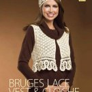 W008 Crochet PATTERN ONLY Burges Lace Vest & Cloche Hat Pattern