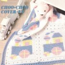 Y917 Crochet PATTERN ONLY Choo-Choo Train Baby Blanket Pattern