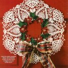 Y104 Crochet PATTERN ONLY Pineapple Poinsettia Wreath Christmas