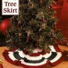Y568 Crochet PATTERN ONLY Itty-Bitty Miniature Christmas Tree Skirt Pattern