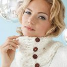X206 Crochet PATTERN ONLY Button Cowl & Lacy Shawl Pattern