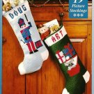 Y643 Crochet PATTERN ONLY 2 Picture Christmas Stockings - Soldier / Mouse in Box