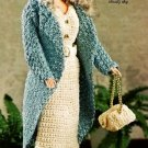X193 Crochet PATTERN ONLY 1940's Moody Blue Fashion Doll Ensemble Pattern