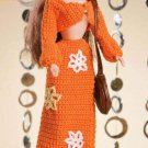 W058 Crochet PATTERN ONLY Fashion Doll 1970's Groovy Chick Skirt & Top Pattern