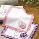 Y865 Crochet PATTERN ONLY Flower Pocket Hankerchiefs Patterns Pansy Rose