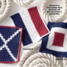 Y868 Crochet PATTERN ONLY 3 Nautical Dishclothes Patterns