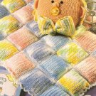 Y378 Crochet PATTERN ONLY Rainbow Baby Blanket & Pillow Pattern Set
