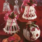 X510 Crochet PATTERN ONLY Christmas Ornament 2 Bells & 1 Ball Cover Patterns