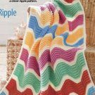 Y862 Crochet PATTERN ONLY Waves of Color Ripple Afghan Throw Pattern