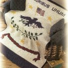 X650 Crochet PATTERN ONLY E Pluribus Unum United States of America Seal Afghan