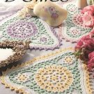 Y227 Crochet PATTERN ONLY Frilly Triangle Doily Pattern