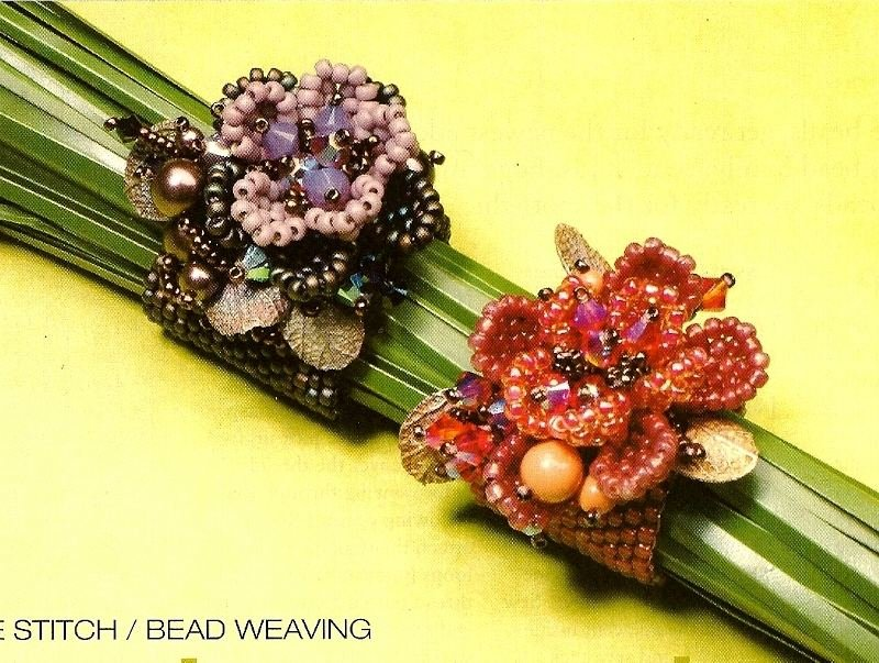 Y968 Bead PATTERN ONLY Enchanted Garden Floral Flower Ring Pattern