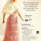 X469 Crochet PATTERN ONLY Fashion Doll Evening Gown Dress & Shawl Pattern