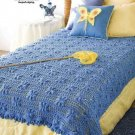 Y841 Crochet PATTERN ONLY Flutterby Afghan Throw Pattern Butterfly Motif